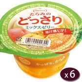 【日本】Tarami鮮Q綜合鮮果肉果凍6入/盒(230g/個)【愛買】