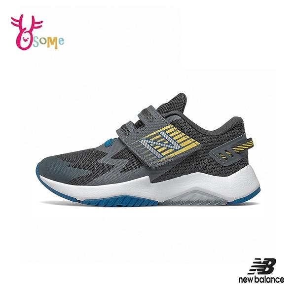 New Balance童鞋 男童運動鞋 RAVE RUN NB童 魔鬼氈跑步鞋 寬楦 輕量透氣慢跑鞋 P8570#灰色◆OSOME奧森鞋業