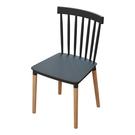 北歐ins椅子簡約靠背餐椅家用日式塑料椅實木網紅休閒椅子化妝椅