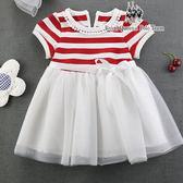 條紋網紗蓬裙連身洋裝 *2色   RQ POLO 小童春夏款 [A8282]