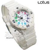 Lotus 時尚錶 日本機蕊 簡單數字活力潮流腕錶 數字錶 女錶/學生錶/兒童手錶/都適合 TP2108L-02白色
