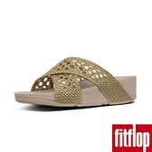 【FitFlop】LULU WICKER WEAVE CROSS SLIDES(黃金色)限時回饋6折