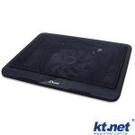 KTNET S608 筆電散熱座◆15度傾斜角◆14公分藍光大風扇,超靜音◆公、母USB雙接頭