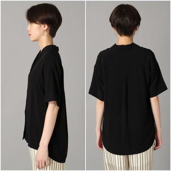 LOWRYS FARM條紋開襟領前短後長短袖襯衫上衣-四色