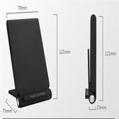 QC3.0急速10W立架式無線充電盤 黑色