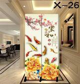 中式屏風隔斷簡約現代臥室客廳辦公室美容院移動小型2扇折疊折屏