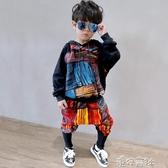 男童秋裝正韓秋季童裝帥氣套裝兒童秋款男寶寶洋氣衣 新年禮物