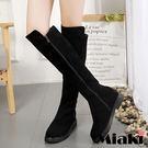 過膝靴韓國暢銷反絨平底高筒長靴