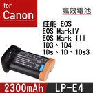 特價款@攝彩@Canon LP-E4 電...