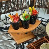竹制料理卷架壽司架出口日韓用具壽司架純手工打磨植物漆食物架子【小梨雜貨鋪】