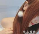 耳環 性感超仙毛毛球耳環韓版氣質長款吊墜個性潮人簡約百搭網紅耳墜耳釘女 小艾時尚