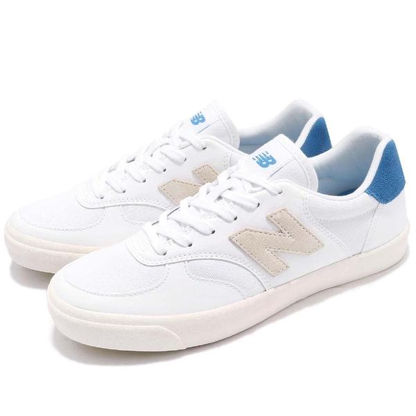 New Balance 休閒鞋 300 NB N字鞋 白 藍 復古奶油底 低筒 平底鞋 皮革 男鞋 女鞋【PUMP306】 CRT300XAD