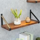 墻上置物架實木隔板一字擱板書架層板客廳裝飾廚房收納架壁掛花架 [快速出貨]