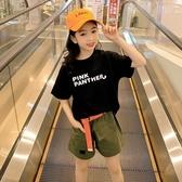 女童短袖T恤 夏季女童短袖T恤2020新款韓版兒童卡通薄款半袖女孩洋氣體恤寬鬆