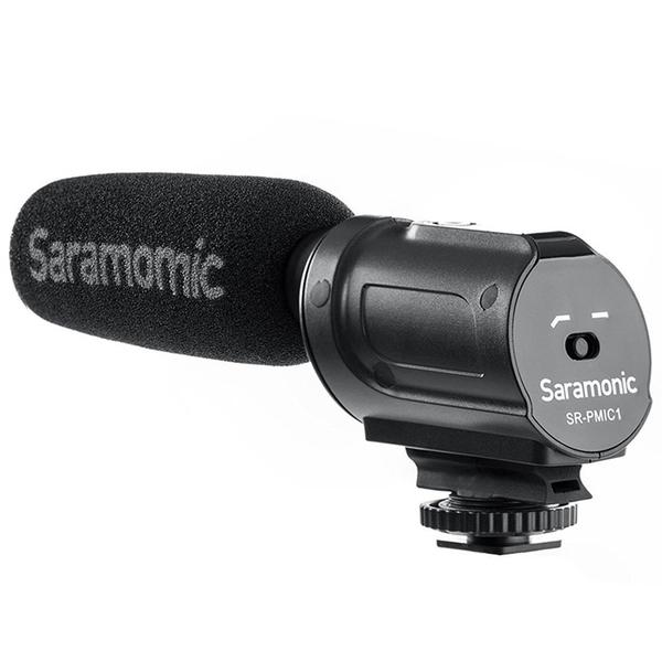 耀您館|Saramonic超心型指向性電容式麥克風SR-PMIC1電容麥克風3.5mm輸出MIC附防風罩支援plug-in