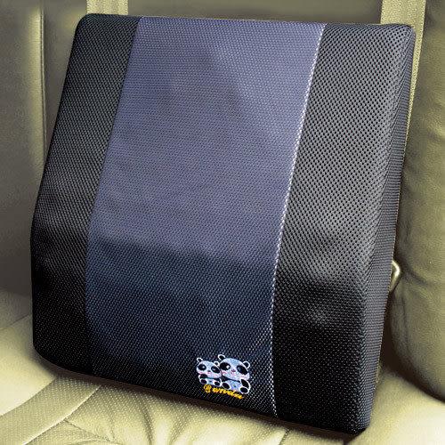 安伯特 竹炭 熊貓 圓仔 按摩護腰墊 車用卡通抱枕 沙發抱枕 辦公室靠枕【DouMyGo汽車百貨】
