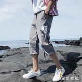 短褲男夏季薄款7分褲休閒寬鬆運動五分沙灘中褲子潮流工裝七分褲  LN4480【東京衣社】