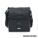 MANDE RHODE - 巴弗洛 - 真皮格紋扣環直式斜背包 - X60743