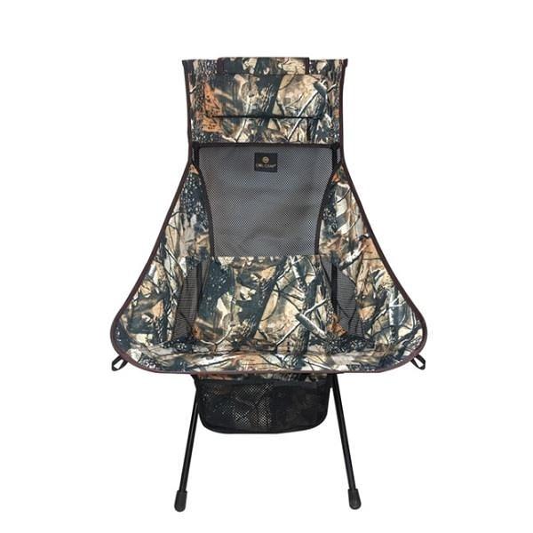 【南紡購物中心】【Owl Camp】LN-1726 樹林迷彩高背椅