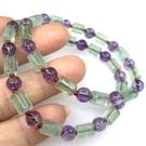 『晶鑽水晶』天然綠螢石搭配天然紫水晶手鍊6mm圓柱型~緩解壓力!開啟智慧、增加創意