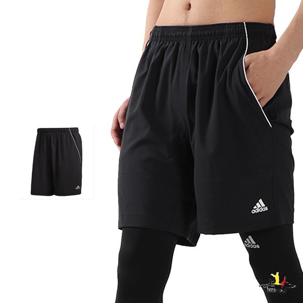 Adidas Ts Short 男款 黑色 短褲 運動褲 透氣 慢跑 休閒 吸濕 排汗 運動短褲 O04785
