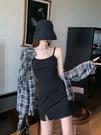 【Charm Beauty】夏季 2021年 新款 修身顯瘦 吊帶裙子 黑色打底 內搭 連衣裙女