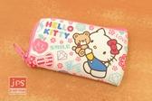 Hello Kitty 凱蒂貓 皮質鑰匙包 熊熊 滿版 963354