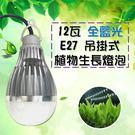 垂掛式 植物生長燈 led 12W / 12瓦  E27 LED植物燈 100v-240v-全藍光 JNP016