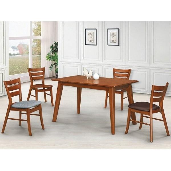 餐桌 AT-828-1 柚木色4尺餐桌 (不含椅子)【大眾家居舘】