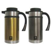 [AWANA]直立式不銹鋼真空咖啡壺(1.0L) /兩色可選