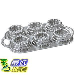 [105美國直購] Nordic Ware Cast-Aluminum Nonstick Baking Pan, Shortcake Baskets 水果塔 杯子蛋糕 烤盤