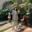 小西服兩件套裝S-XL957#西裝套裝女春夏韓版休閒薄款垂感氣質時尚兩件套【風之海】