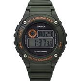 CASIO手錶 軍綠時尚多功能電子膠錶NECD28
