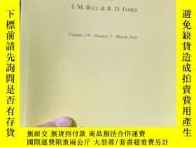 二手書博民逛書店Archive罕見for Rational Mechanics