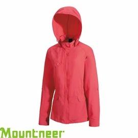 【Mountneer 山林 女 抗UV休閒外套 珊瑚紅】21J08/休閒外套/防曬外套★滿額送