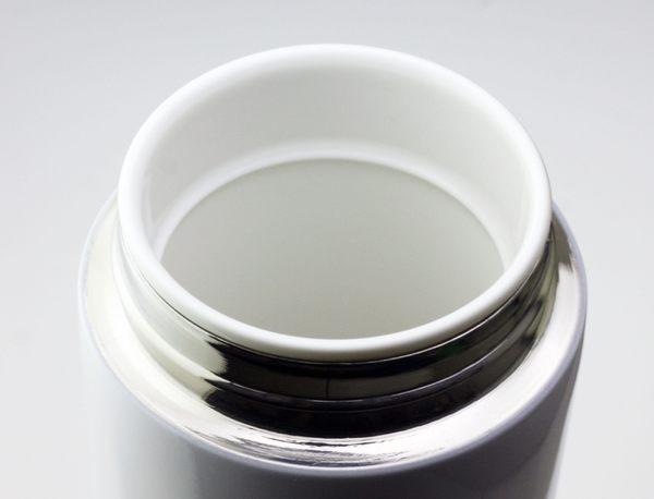 【雙重送】SMF雙層真空骨瓷保溫杯 340ml (晶雪白) 典雅款 ❤送骨瓷濾茶隔 ❤ 加贈SMF專用帆布束口袋