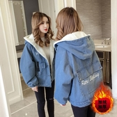 新款韓版初秋冬羊羔毛加絨加厚夾克牛仔短外套女寬鬆百搭上衣 艾瑞斯居家生活