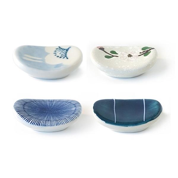 日式風格小圓陶瓷筷子托架(1入) 款式隨機出貨【小三美日】