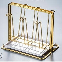 杯架 創意水杯架家用杯架置物架客廳茶杯玻璃杯子架瀝水掛架子收納歐式【快速出貨八折特惠】