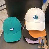 兒童棒球帽春遊休閒鴨舌帽小孩韓版時尚字母棒球帽【宅貓醬】