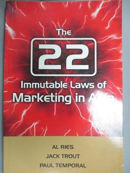 【書寶二手書T6/財經企管_JML】The 22 Immutable Laws of Marketing in Asia