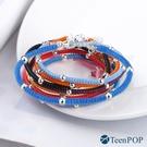 聖誕禮物 蠶絲蠟繩手鍊 ATeenPOP 925純銀 吉祥如意 送刻字 多款任選 紅繩