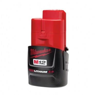 美國品牌 Milwaukee 米沃奇 12V鋰電專用電池 2.0AH M12B2