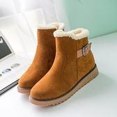 低筒雪靴-時尚加絨加厚保暖女厚底靴子3色73kg5【巴黎精品】