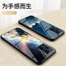 OPPO Find X3 Pro 手機殼 軟邊玻璃鏡面星空情侶 超薄全包防摔保護套 冷淡風創意潮牌 保護殼