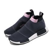 【海外限定】adidas 休閒鞋 NMD_CS1 PK W 藍 紫 女鞋 編織 Primeknit 運動鞋 【PUMP306】 B37657
