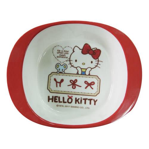 HelloKitty蝴蝶結方雙耳碗【愛買】