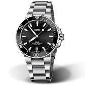 Oris豪利時Aquis時間之海300米潛水錶 0173377324134-82105PEB 黑