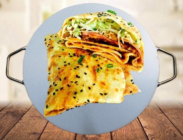 雜糧煎餅鍋家用雞蛋烙餅攤煎餅果子工具 擺攤鐵板平底鏊子    麻吉鋪