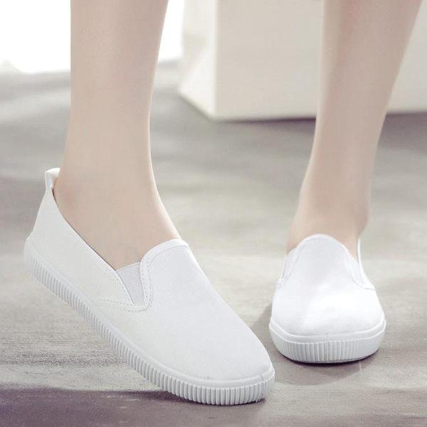 護士鞋女白色老北京布鞋2019新款百搭加絨軟底平底秋秋冬款小白鞋 降價兩天